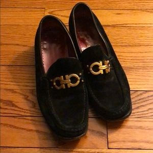 {ferragamo} black loafers